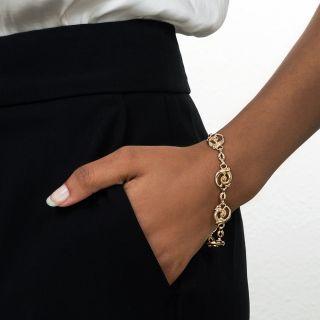 Vintage Gold Scroll Bracelet