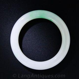 Vintage Gump's Natural Jadeite Bangle Bracelet