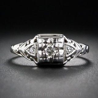Vintage Illusion Diamond Engagement Ring