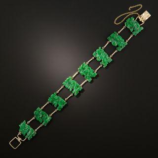 Vintage Jade Buddha Bracelet - 4