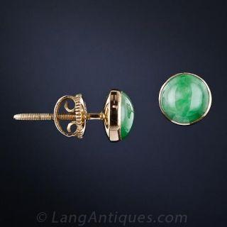 Vintage Jade Ear Studs
