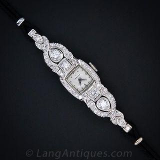 Vintage Ladies Diamond Hamilton Watch
