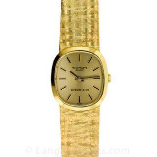 Vintage Ladies Patek Philippe Gold Bracelet Watch From Tiffany & Co.