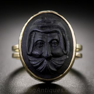 Vintage Lava Cameo Ring - 1