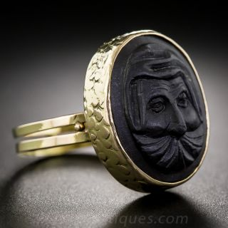 Vintage Lava Cameo Ring
