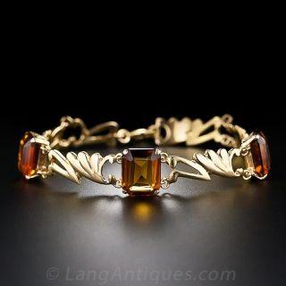 Vintage Madeira Citrine Bracelet