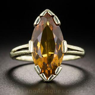 Vintage Marquise Citrine Ring