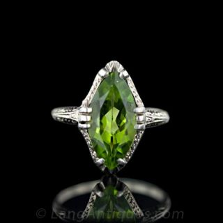 Vintage Marquise Peridot Ring