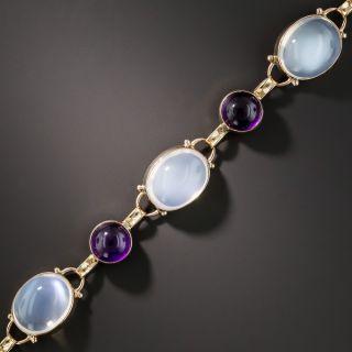 Vintage Moonstone and Amethyst Bracelet  - 1