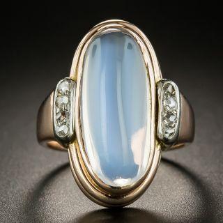 Vintage Moonstone and Diamond Ring - 3