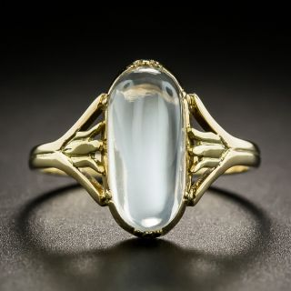 Vintage Moonstone Cabochon Ring - 2