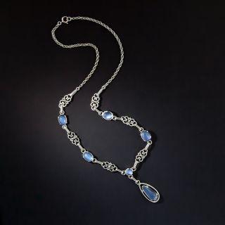 Vintage Moonstone Necklace, Circa 1930s - 3