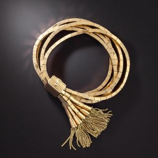 Vintage Multi-Strand Tassel Slide Bracelet - 1