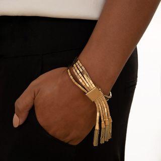 Vintage Multi-Strand Tassel Slide Bracelet