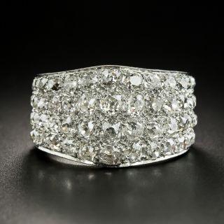 Vintage Old Mine-Cut Diamond Pavé Band Ring - 1