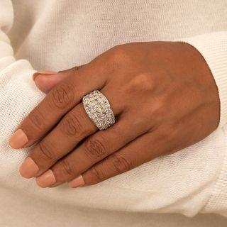 Vintage Old Mine-Cut Diamond Pavé Band Ring