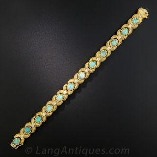Vintage Opal and Diamond Bracelet