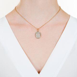 Vintage Oval Diamond Cluster Drop