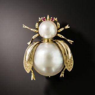 Vintage Pearl Bee Pin - 2