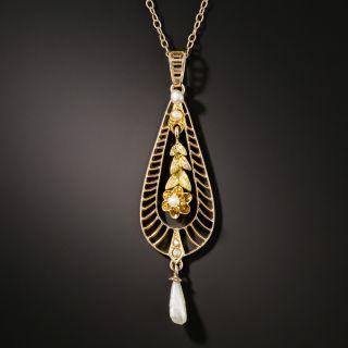 Vintage Pearl Drop Necklace - 2