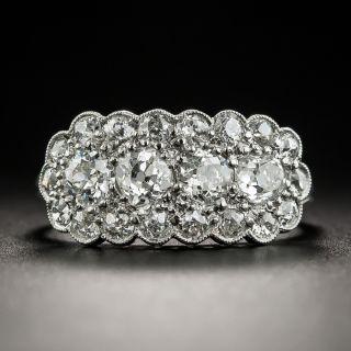 Vintage Platinum Diamond Band Ring - 1