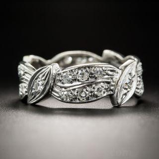 Vintage Platinum Diamond Band - Size 10 - 1
