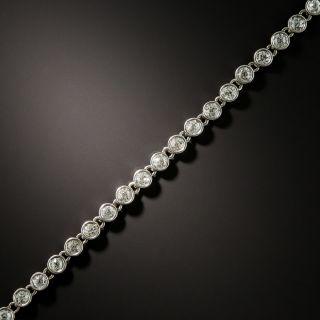 Vintage Platinum Diamond Chain Bracelet - 1