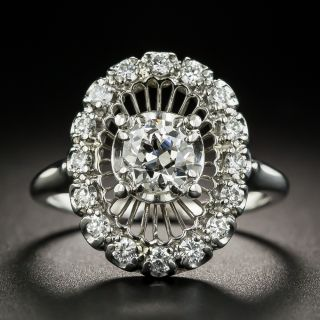 Vintage Platinum Diamond Dinner Ring by Jabel - 1