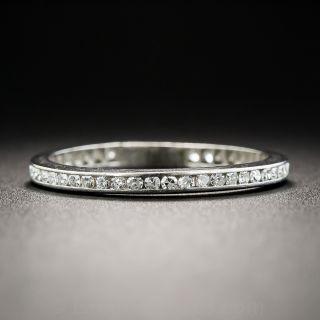 Vintage Platinum Diamond Eternity Band - Size 5