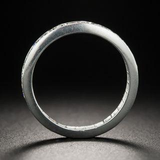 Vintage Platinum Diamond Eternity Wedding Band - Size 5