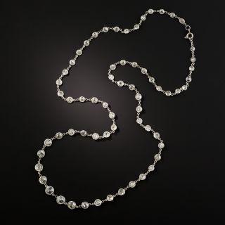 Vintage Platinum Diamonds-By-The Yard Necklace - 13.50 Carats - 3