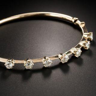 Vintage Rose Gold Diamond Bangle Bracelet - 2
