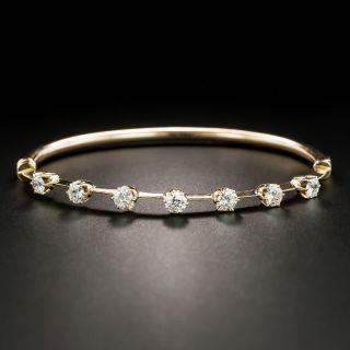 Vintage Rose Gold Diamond Bangle Bracelet