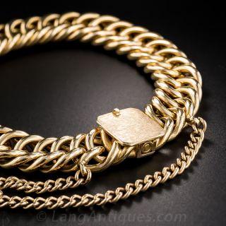 Vintage Rosy-Yellow Gold Curb Link Bracelet