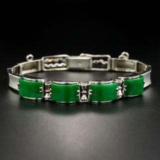 Vintage Saddle Jade Bracelet