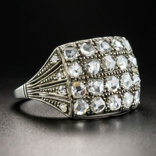 Vintage Silver Rose-Cut Diamond Ring