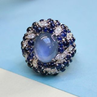 Vintage Star Sapphire Cocktail Ring