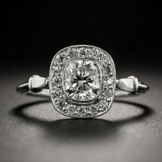Vintage Style 1.01 Carat Cushion-Cut Diamond Engagement Ring - 2