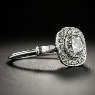 Vintage Style 1.01 Carat Cushion-Cut Diamond Engagement Ring