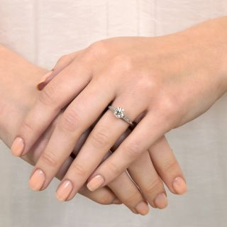 Vintage Style 1.01 Carat Diamond Solitaire Engagement Ring - GIA I SI2