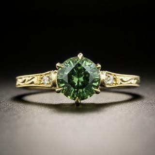 Vintage Style 1.46 Carat Demantoid Garnet Ring - 2