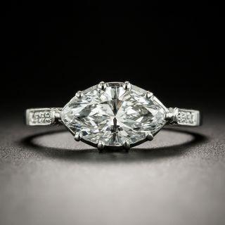 Vintage Style 1.52 Carat Marquise Diamond Engagement Ring - GIA E SI1 - 1