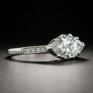 Vintage Style 1.52 Carat Marquise Diamond Engagement Ring - GIA E SI1
