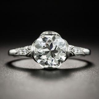 Vintage Style 1.71 Carat Platinum Diamond Engagement Ring - GIA I VS2 - 1