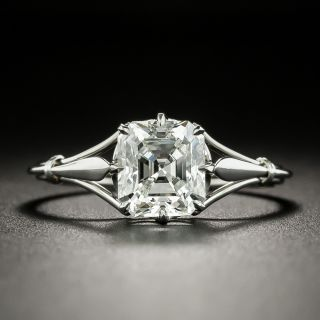 Vintage Style 1.72 Carat Emerald-Cut Solitaire Diamond Ring - GIA G VS2 - 2
