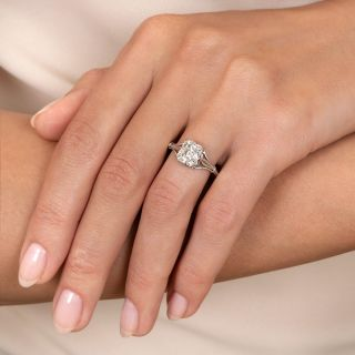 Vintage Style 1.72 Carat Emerald-Cut Solitaire Diamond Ring - GIA G VS2
