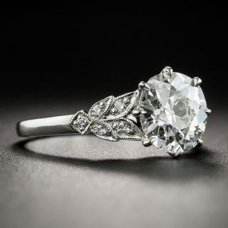 Vintage Style 2.03 Carat Old European-Cut Diamond Engagement Ring - GIA H SI1