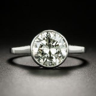 Vintage Style 2.50 Carat Diamond Platinum Solitaire Ring  - 1