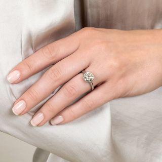 Vintage Style 2.50 Carat Diamond Platinum Solitaire Ring