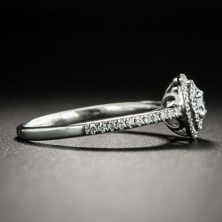 Vintage Style .20 Carat Diamond Double Halo Engagement Ring